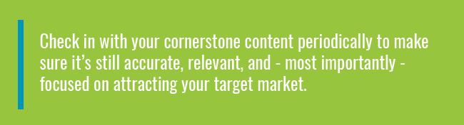 cornerstone content quote